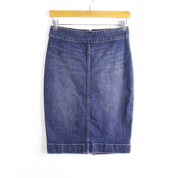Wilfred Free denim pencil skirt zipper stretch 6